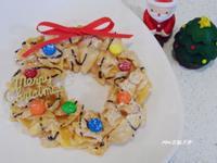 【用玉米碎片做聖誕花圈】