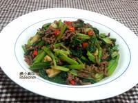 簡易熱炒~沙茶牛肉炒油菜