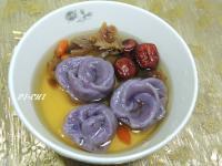 紫地瓜湯圓