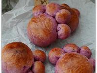紫蕃薯紅豆包