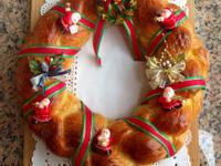 聖誕節花圈麵包