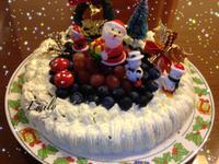 聖誕老公公送禮物~巧克力蛋糕