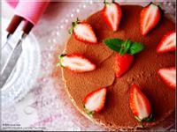 草莓可可慕斯 (免烤箱)