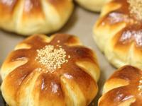 花型芋頭麵包