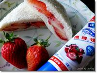 草莓吐司盒---草莓就愛鷹牌煉奶