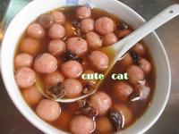 黑糖紅麴湯圓