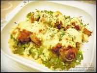 四季豆起士焗烤肉丸
