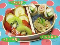 日式蓮藕炒/竹輪鑲寶/水果小拼盤