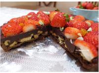 草莓核桃巧克力塔