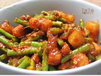 ♦泰泰風♦紅咖哩醬炒五花肉長豆