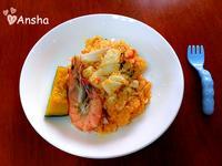 超簡單。蕃茄海鮮燉飯