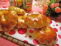 鮪魚玉米花型麵包