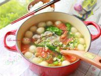番茄肉片小湯圓 (簡單公式做湯圓)