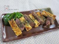 孜然牛排煎嫩豆腐(上田太太愛料理)