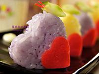 【彩色米】火腿起司米飯糰