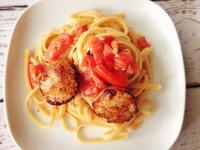 香煎干貝番茄羅勒義大利麵 Tomato and Basil Pasta with Seared Scallops