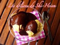 手工香草籽冰淇淋佐巧克力醬