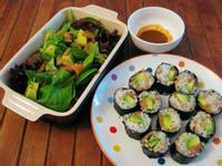 燻鮭魚酪梨壽司卷