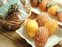 蜂蜜杏仁馬德蓮-佐檸檬糖霜/巧克力杏仁角