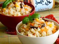 香菇雞肉丁野炊飯【淬釀中式下午茶點】