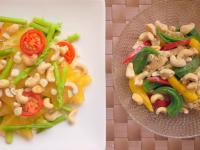 腰果楊桃蘆筍楓糖沙拉.vs.腰果秋葵雞絲沙拉「憶霖」」