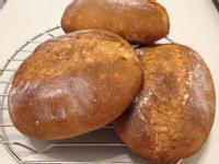 法式酥脆裸麥麵包(麵包機食譜)