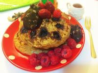 10 mins藍莓覆盆子鬆餅~浣熊廚房