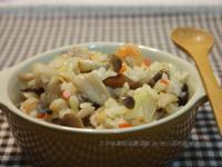 蕈菇高麗菜飯~好吃古早味