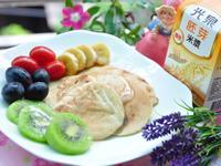水果米漿鬆餅【光泉加值型植物奶】