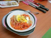 [小湯的美味食譜] 田園番茄義大利麵 Le Creuset, Staub鑄鐵鍋實做