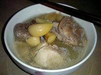 蒜頭酒雞湯