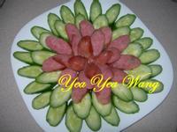 綠中紅(香腸配小黃瓜)