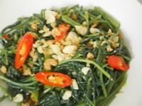 天然蝦醬炒空心菜