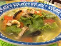 菠菜麵疙瘩湯