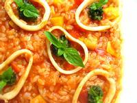 青醬墨魚蕃茄燉飯