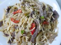 茭白筍酸菜炒肉絲