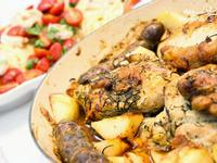 義式香腸、雞肉、馬鈴薯大盤烤