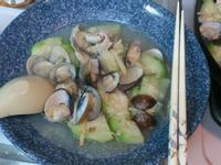 夏日輕晚餐 -蛤蠣絲瓜冬粉