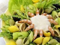 大蝦貝殼麵沙拉