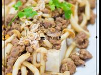 鮮菇黃金炒肉碎扒豆腐@馮太廚房