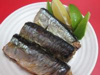 小烤箱~烤秋刀魚