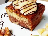 香蕉核桃巧克力雙色蛋糕