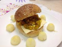 南瓜抹醬起司漢堡