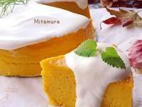 南瓜起司蛋糕(果汁機加烤箱)