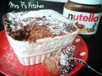 Nutella榛子蛋糕[微波爐2分鐘]