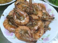 蒜頭胡椒蝦~熱吃冷吃都好吃,下酒的好配菜