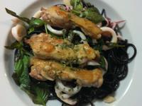雞腿排&海鮮墨魚義大利麵