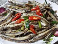 蔥爆椒鹽丁香魚