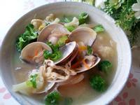 多變的味噌湯 ~ 鮮豆皮花菜蛤蜊味噌湯