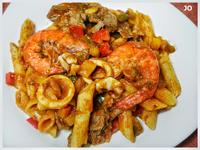 茄汁海鮮尖筆義大利麵